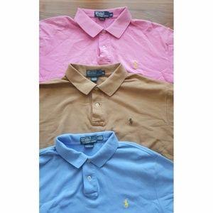 Lot of 3 Ralph Lauren Men's Short Sleeve Polo XL